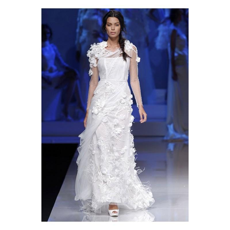 زفاف - Vestido de novia de YolanCris Modelo Sumatra - Tienda nupcial con estilo del cordón