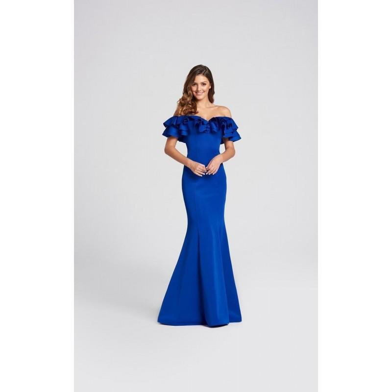 c6f424e680c7 Ellie Wilde - EW118004 Tiered Ruffle Off Shoulder Mermaid Gown - Designer Party  Dress   Formal Gown