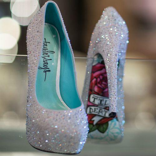 Hochzeit - Taylor Says Glitter Stiletto Heels