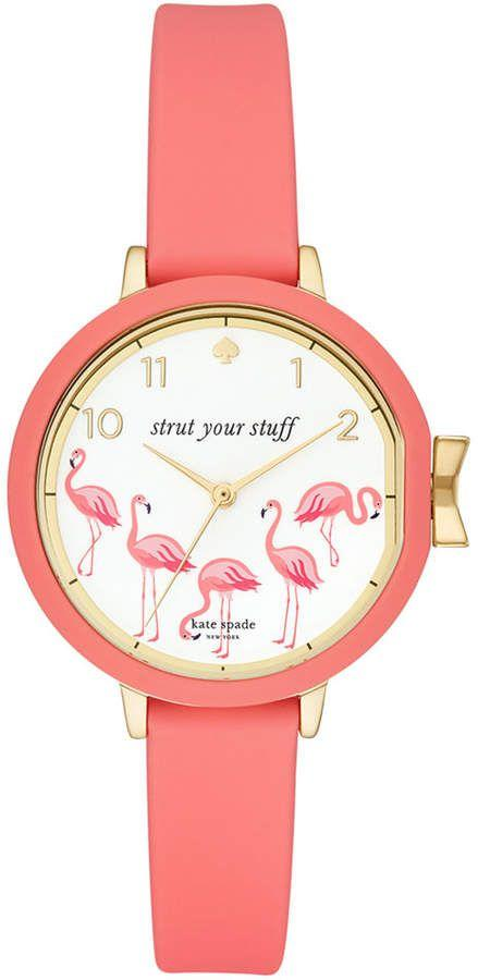 Mariage - Kate Spade Women's Park Row Pink Silicone Strap Watch 34mm
