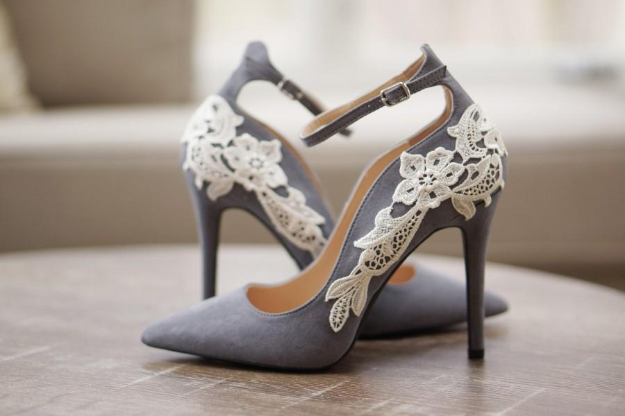 Grey Bridal Shoes d5b7f48fb