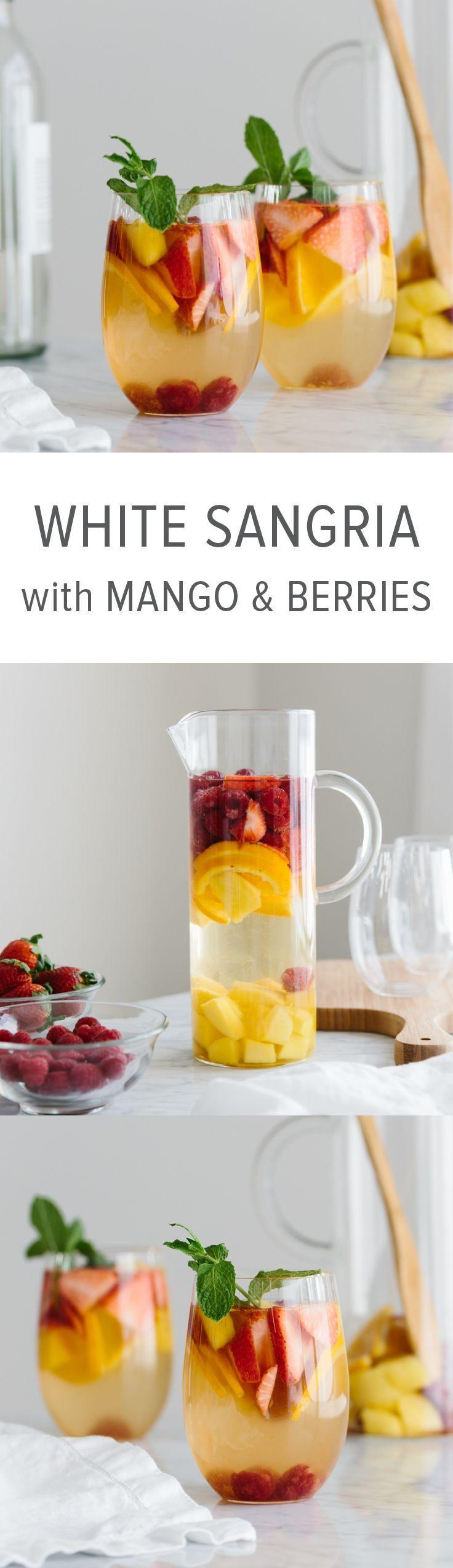 Wedding - White Sangria With Mango And Berries