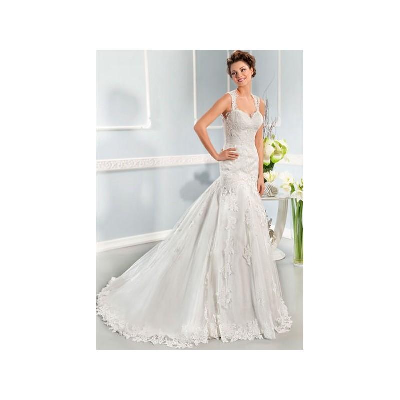 Свадьба - Vestido de novia de Cosmobella Modelo 7630 - 2014 Sirena Tirantes Vestido - Tienda nupcial con estilo del cordón