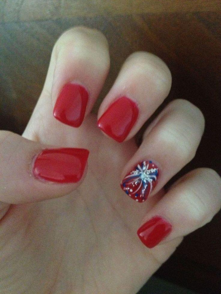 Hochzeit - 4th Of July Nails 17