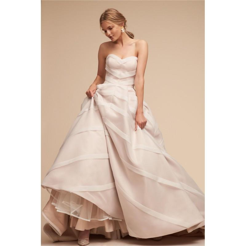 Hochzeit - BHLDN Spring/Summer 2018 Carlton Sweet Sleeveless Tulle Split Front Sweetheart Aline Blush Chapel Train Bridal Gown - Bridesmaid Dress Online Shop