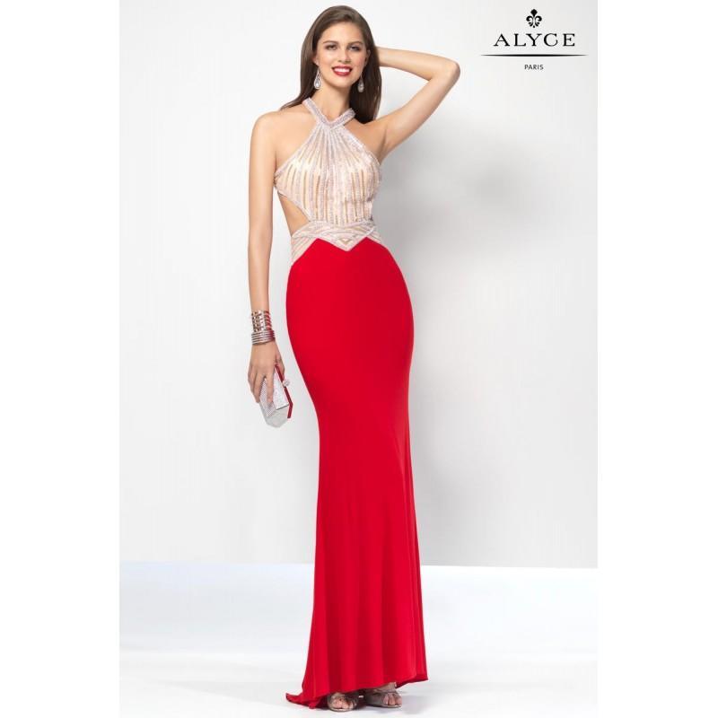 Wedding - Red Alyce Prom 6660 Alyce Paris Prom - Rich Your Wedding Day
