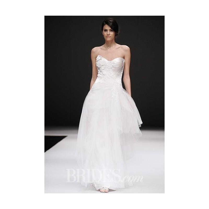 Mariage - Jenny Lee - Fall 2015 - Style 1523 Sweetheart Neckline Ball Gown Wedding Dress with Appliqued Bodice and Tulle Skirt - Stunning Cheap Wedding Dresses