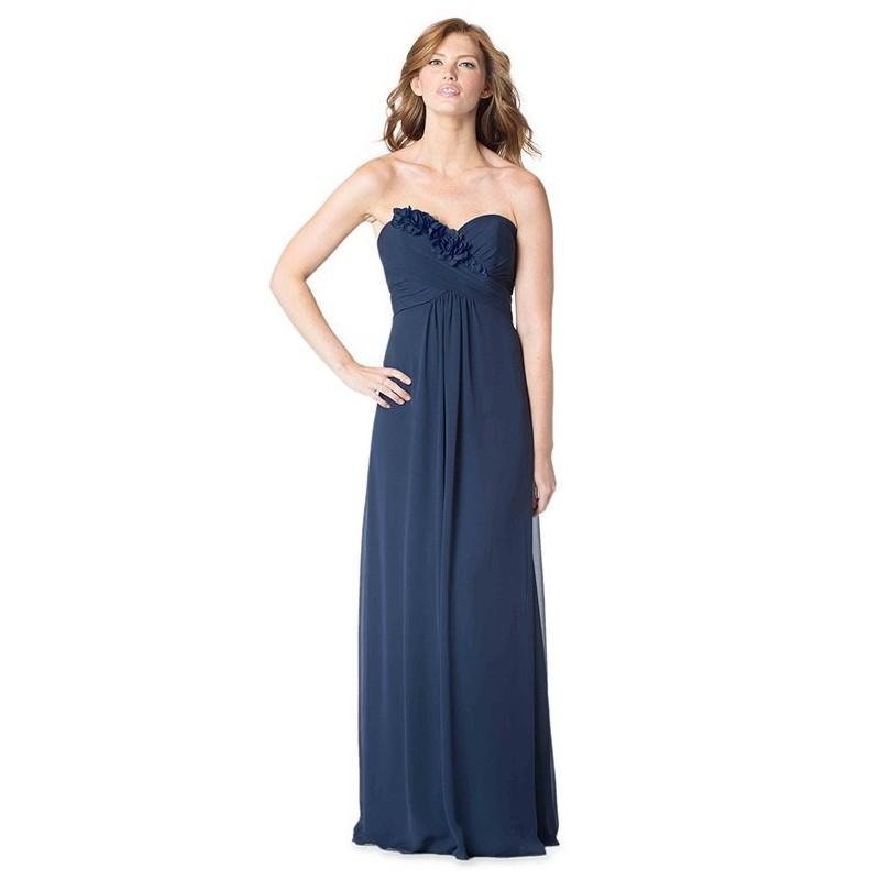 Hochzeit - Bari Jay Bridesmaids 1616 - Blue Chiffon Floor - Formal Bridesmaid Dresses 2018