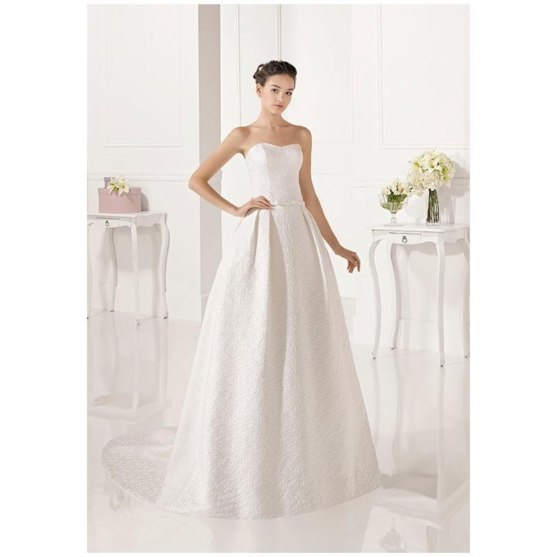 Hochzeit - Adriana Alier Zulema - A-Line Strapless Natural Floor Chapel Specialty - Formal Bridesmaid Dresses 2018