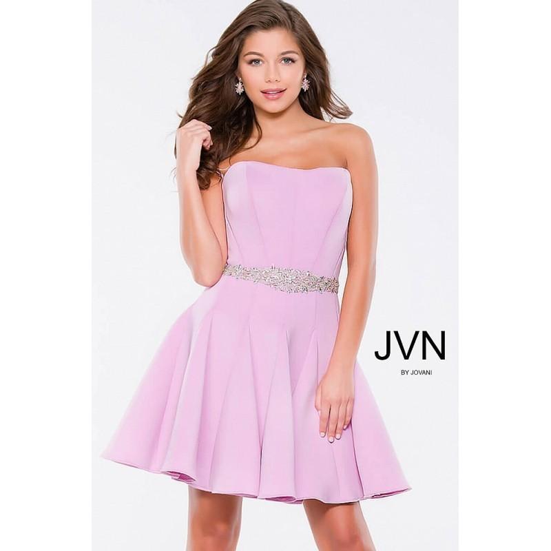Wedding - Jovani JVN36680 Short Dress - A Line JVN by Jovani Strapless, Sweetheart Short Short and Cocktail Dress - 2018 New Wedding Dresses