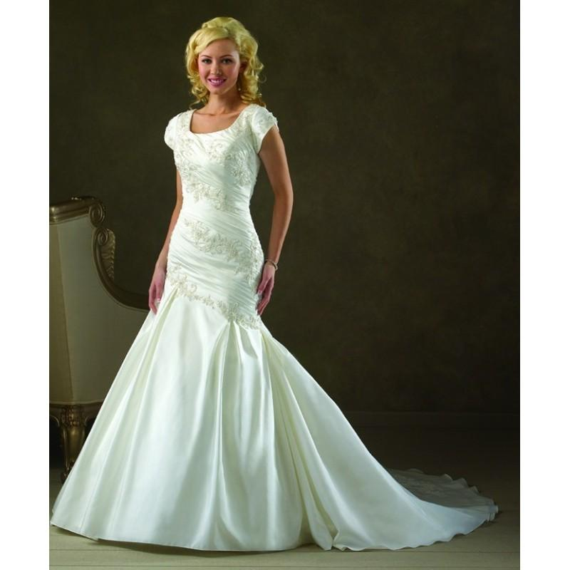 Wedding - Bonny Bliss 2103 Modest Mermaid Wedding Dress - Crazy Sale Bridal Dresses