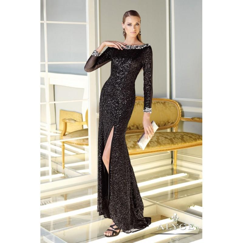 Mariage - Black Claudine for Alyce Prom 2295 Claudine for Alyce Paris - Rich Your Wedding Day