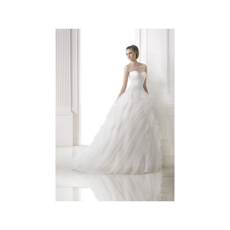 Wedding - Vestido de novia de Pronovias Modelo MOANA_MISTY - 2015 Princesa Palabra de honor Vestido - Tienda nupcial con estilo del cordón