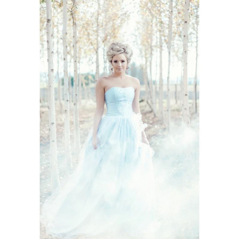 Wedding - Blue Wedding Dress Silk Ballgown, MONET, Tulle Skirt, Blush Ivory White Lavender Many Colors - Hand-made Beautiful Dresses