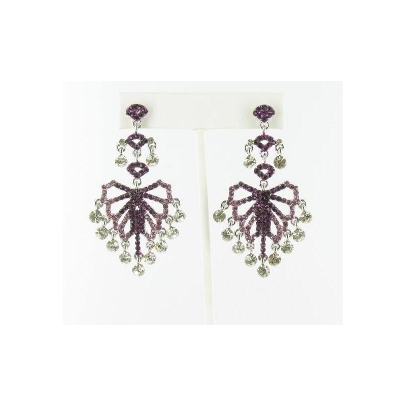 Wedding - Helens Heart Earrings JE-E08811-S-Purple Helen's Heart Earrings - Rich Your Wedding Day