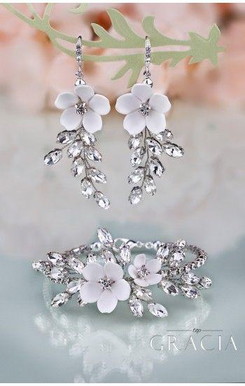 زفاف - MAEJA Crystal Drop Bridal Earrings Wedding Jewelry
