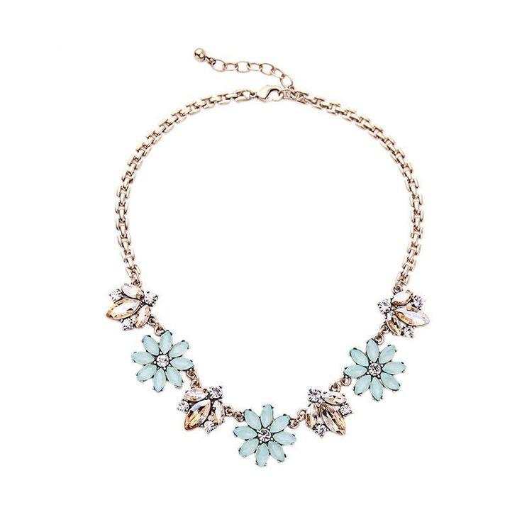 Mariage - Nicole - Crystal Floral Statement Necklace