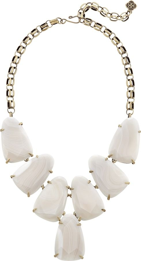 Свадьба - Kendra Scott Harlow Statement Necklace In White Banded Agate