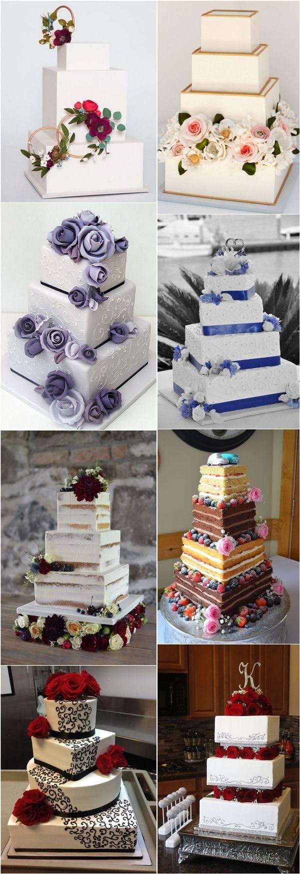 Wedding - Top 20 Square Wedding Cakes That Wow