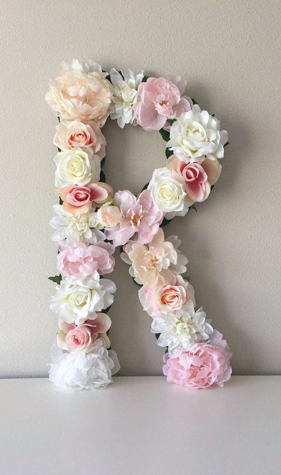 Nursery Letter Fl Flower Baby Initial