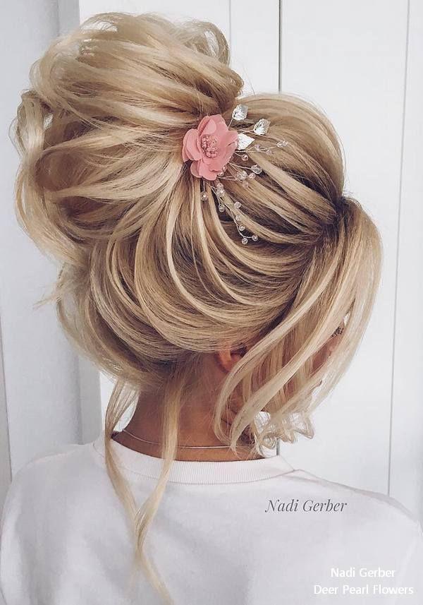 Haar Top 20 High Bun Wedding Updo Hairstyles 2860960