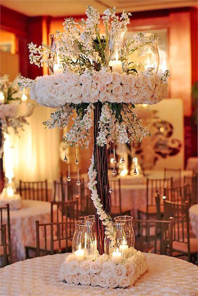 زفاف - 39 Gorgeous Tall Wedding Centerpieces