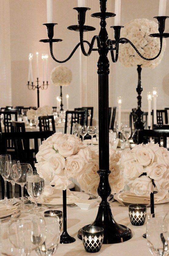 Wedding - Color Inspiration: Modern Black On White Wedding Ideas