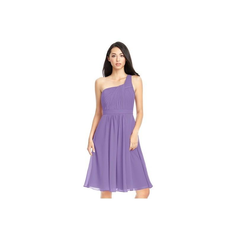40294ac4885 Tahiti Azazie Camellia - Strap Detail Knee Length One Shoulder Chiffon Dress  - Simple Bridesmaid Dresses   Easy Wedding Dresses