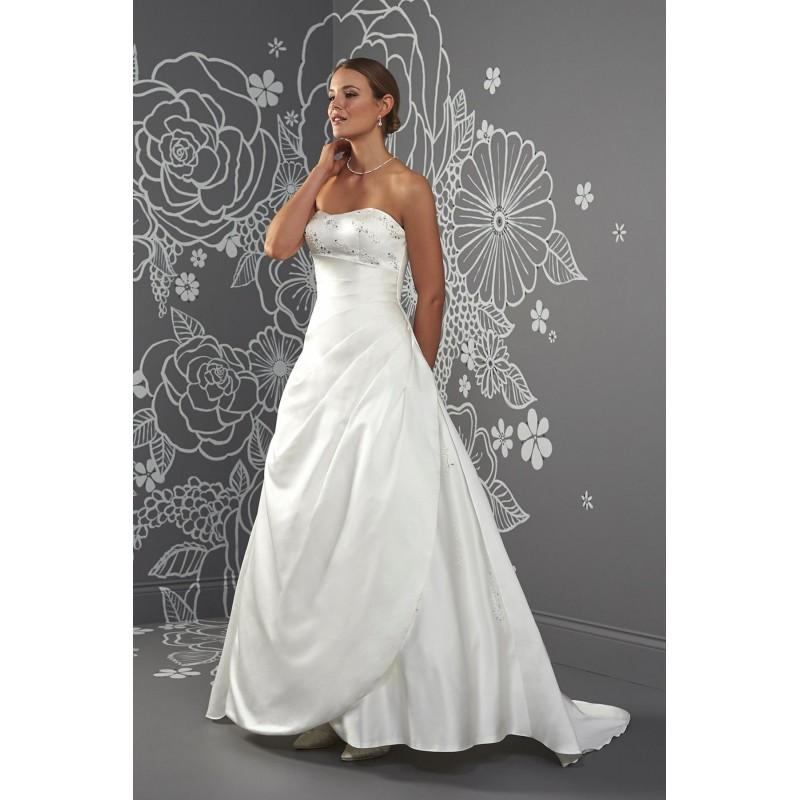 Wedding - Laura by Romantica of Devon - Satin Floor Sweetheart  Strapless A-Line Wedding Dresses - Bridesmaid Dress Online Shop