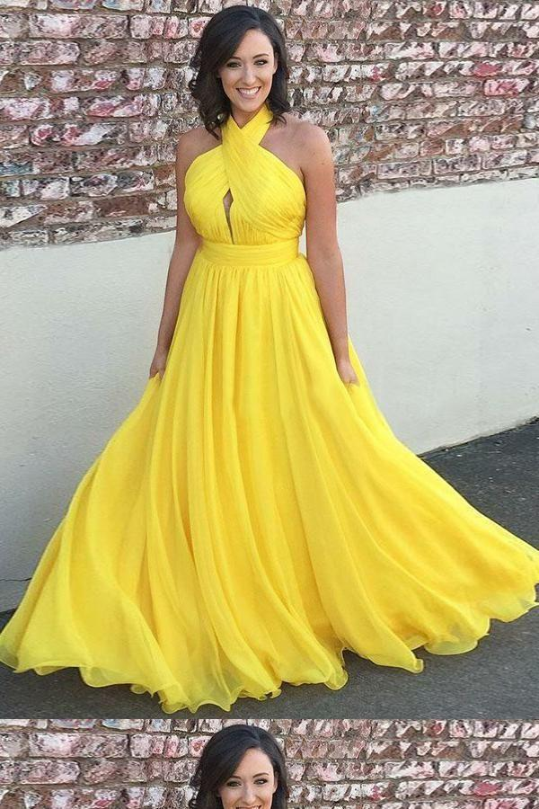 Hochzeit - Discount Outstanding Prom Dresses Long, Modest Prom Dresses, Prom Dresses 2018, Yellow Prom Dresses
