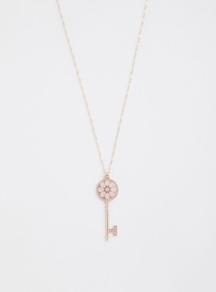 Mariage - Rose Gold Key Necklace