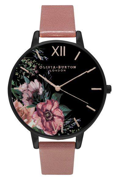 Свадьба - Olivia Burton 'After Dark' Leather Strap Watch, 38mm Available At #Nordstrom