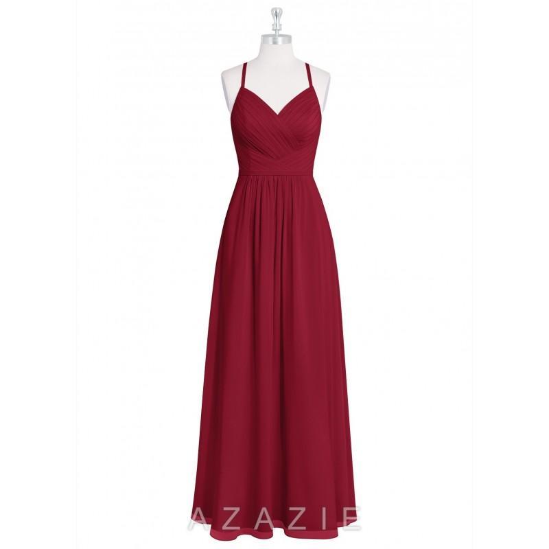 329976be3ea Burgundy Azazie Amari - Simple Bridesmaid Dresses   Easy Wedding Dresses