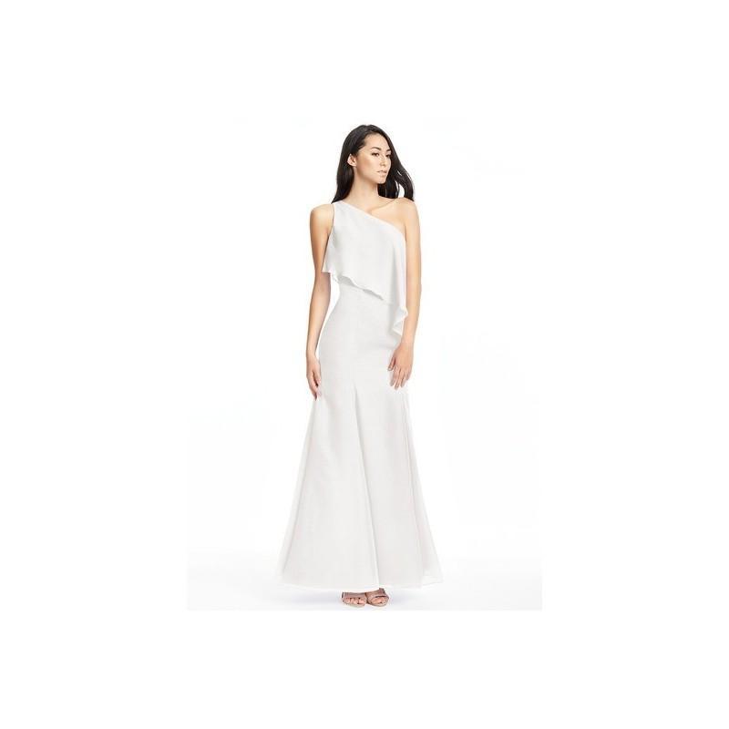 Wedding - Ivory Azazie Nadia - One Shoulder Floor Length Chiffon Side Zip Dress - Simple Bridesmaid Dresses & Easy Wedding Dresses