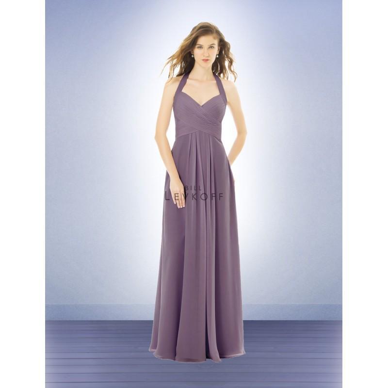 زفاف - Bill Levkoff 487 Sweetheart Halter Criss-Cross Pleated Bridesmaid Dress - Crazy Sale Bridal Dresses