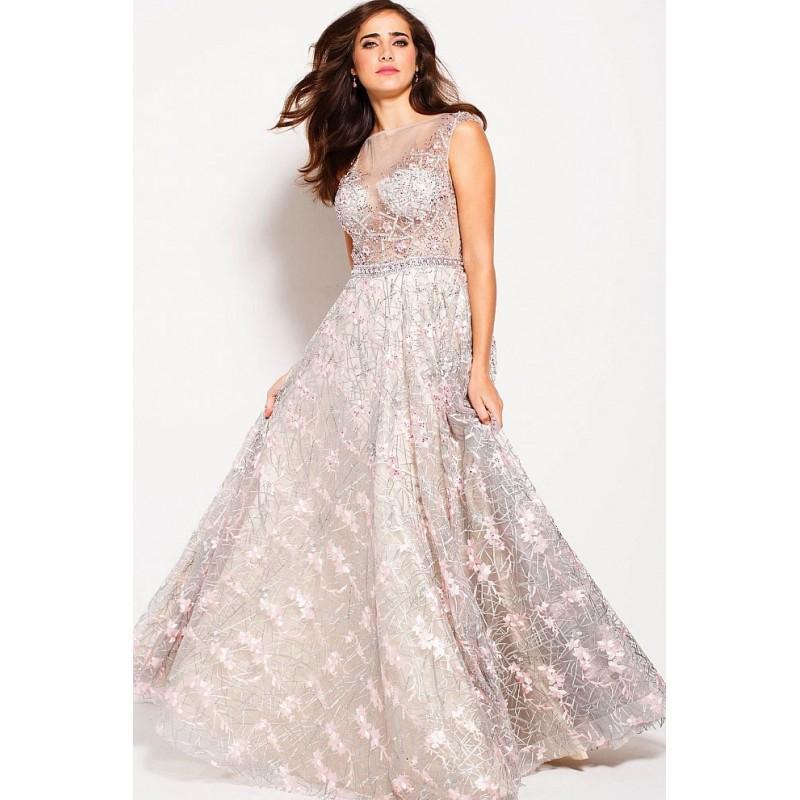 زفاف - Jovani - 60656 Cap Sleeved Crystal Embellished Ballgown - Designer Party Dress & Formal Gown