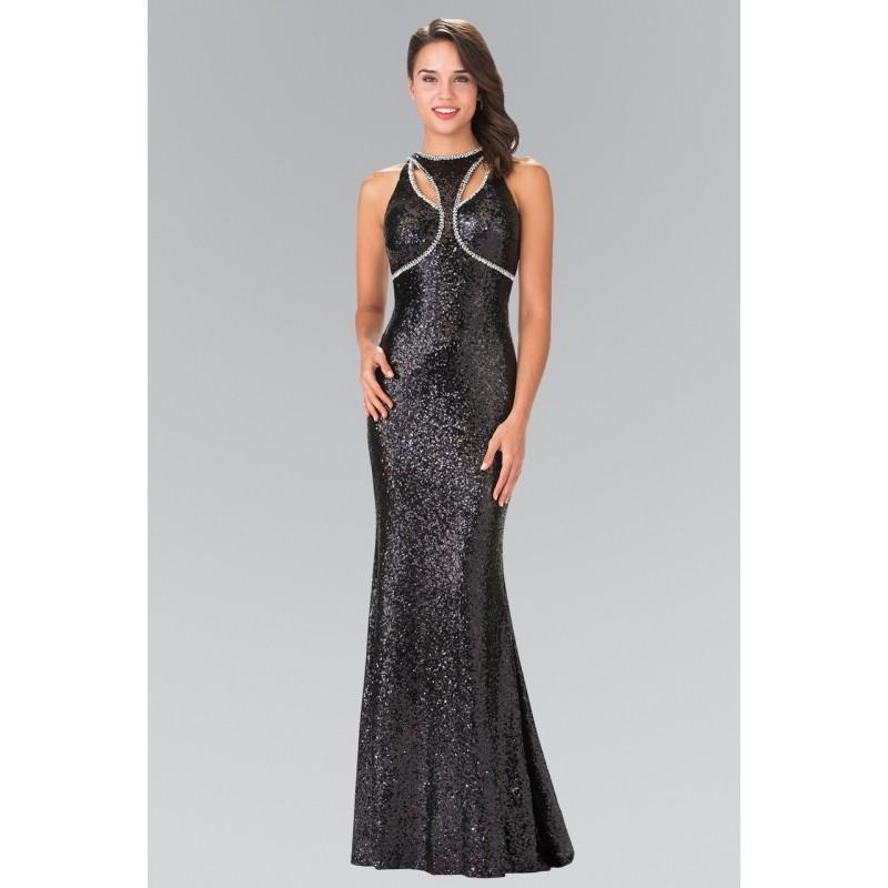 Wedding - Elizabeth K - Sequined Halter Neck Trumpet Dress GL2217 - Designer Party Dress & Formal Gown