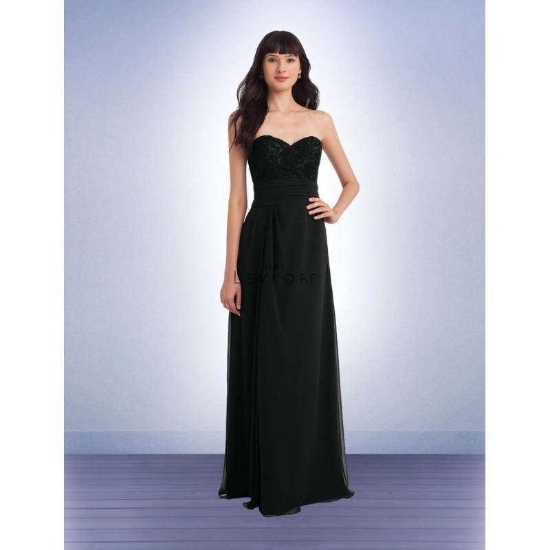 Wedding - Bill Levkoff 1145 Lace Bridesmaid Gown with Cummerbund - Brand Prom Dresses