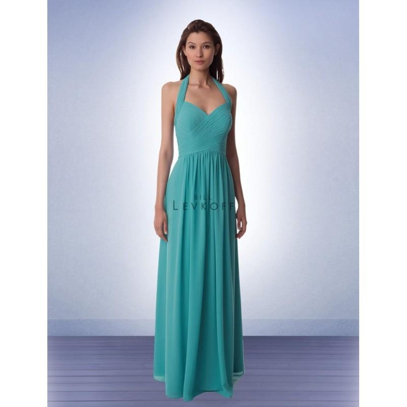 Wedding - Bill Levkoff 990 Ruched Halter Bridesmaid Gown - Brand Prom Dresses