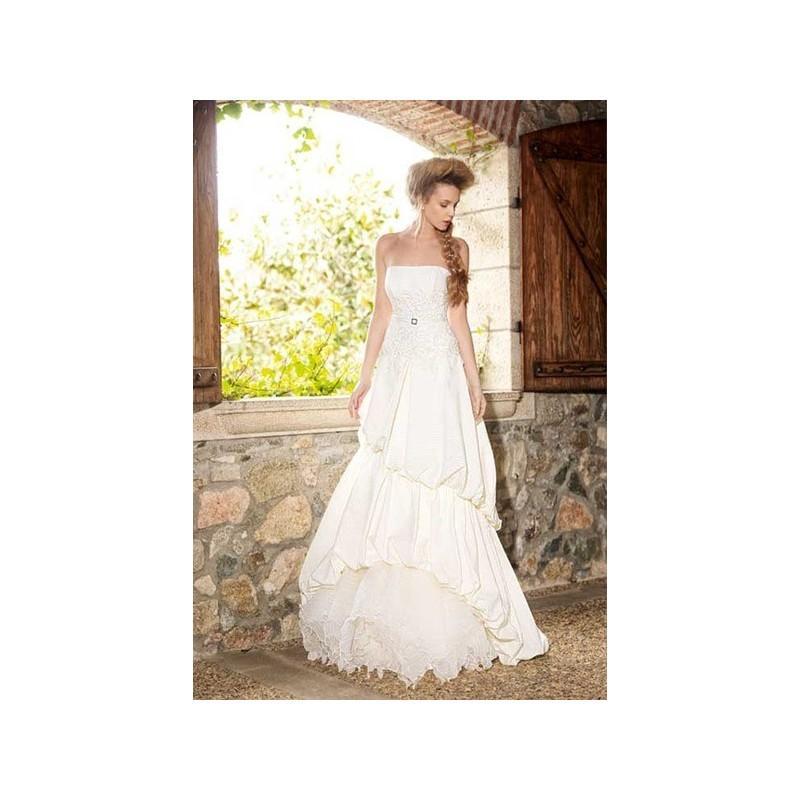 Mariage - Vestido de novia de Inmaculada Garcia Modelo 5343 - 2015 Evasé Palabra de honor Vestido - Tienda nupcial con estilo del cordón