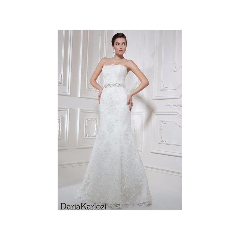 زفاف - Vestido de novia de Daria Karlozi Modelo 07019 Olaso - 2016 Sirena Palabra de honor Vestido - Tienda nupcial con estilo del cordón
