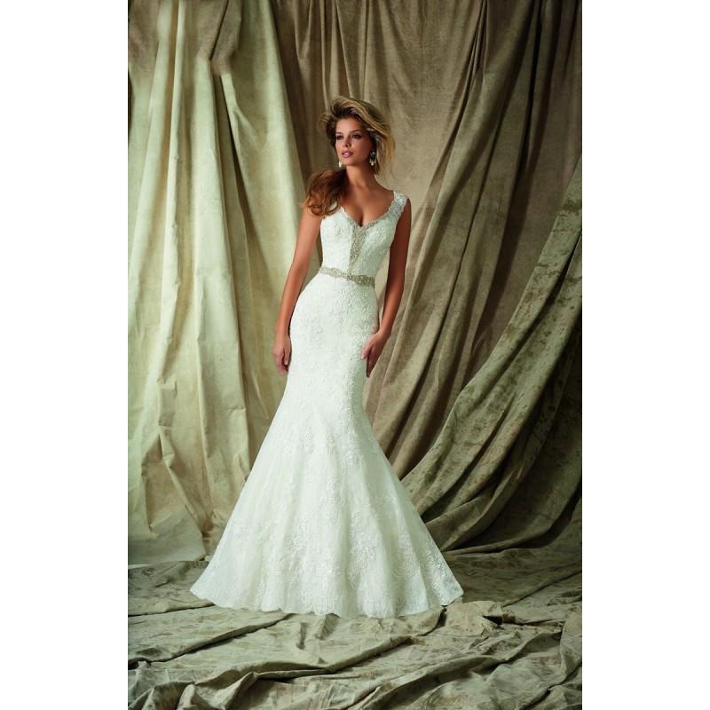 Mori Lee 1327 Wedding Dress V Neck Fit And Flare Long Mori Lee