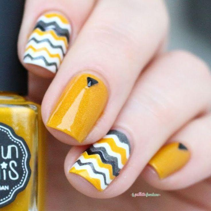 Wedding - 46 Cute Mustard Nails Color And Design Ideas