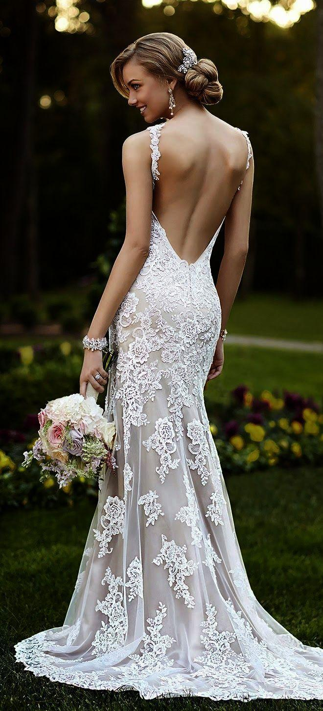 Свадьба - Look What I Pinned >> Beautiful Lace Wedding Dresses #collect