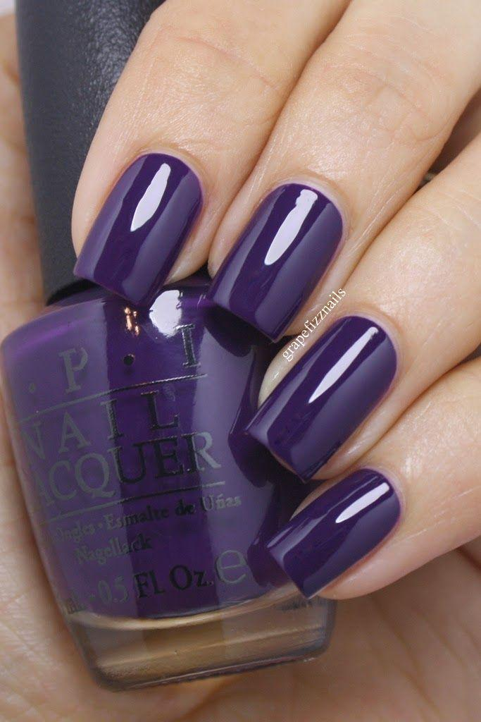 Свадьба - Nails -                                                      OPI Nein! Nein! Nein! OK Fine! And Bring On The Bling - Grape Fizz Nails