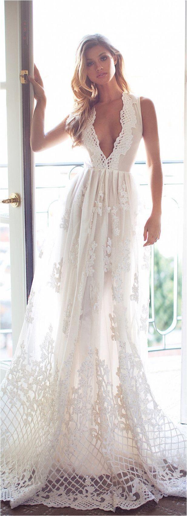Wedding - 85 Comfortable Beach Wedding Dresses Inspiration 2017