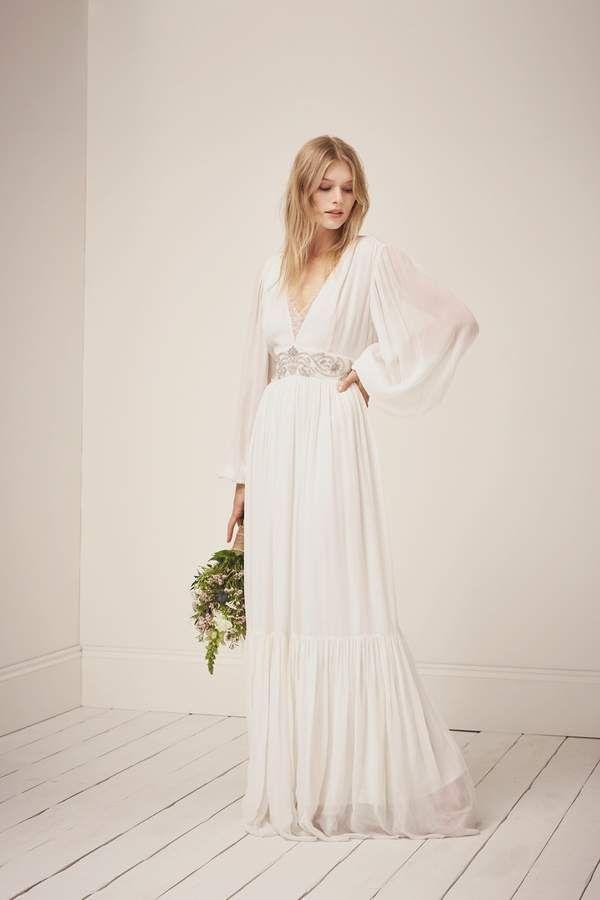 Wedding - Fcus Cari Sparkle Maxi Wedding Dress #frenchconnection #ad
