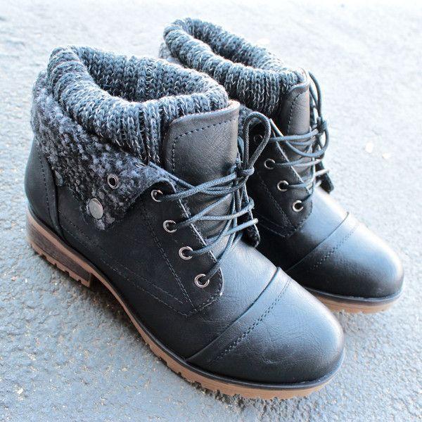Hochzeit - Cozy Womens Sweater Boots - Black