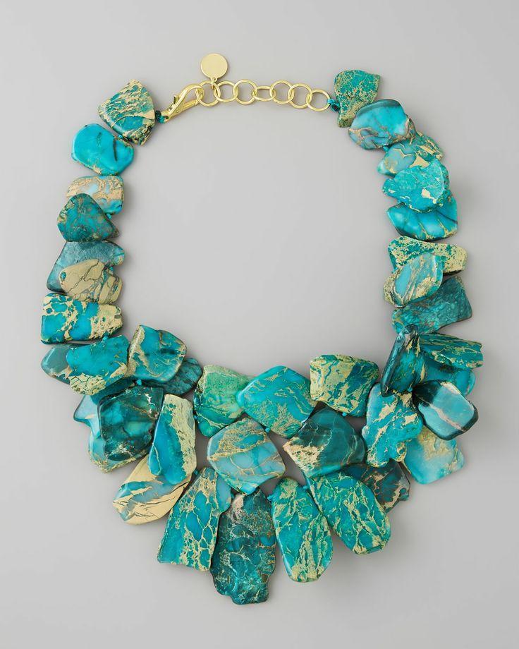 Свадьба - Nest Clustered Turquoise Jasper Necklace - Neiman Marcus