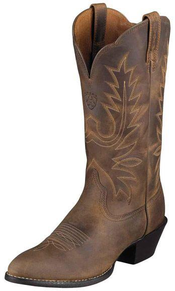 Hochzeit - Ariat Women's Heritage Western R Toe Cowboy Boots - Distressed Brown